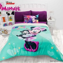 Minnie Mouse Beautiful Comforter Sherpa Soft Girl Pillow Twin Princess Gift 2PC - $130.68