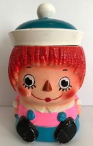 Vintage Raggedy Ann Andy Ceramic 8.5 inch tall Cookie Jar JAPAN - $69.29