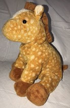 "2003 Ty Pluffies Tylux 9"" Long Giraffe Named ""Lasso"" Plush Stuffed Floppy Soft - $14.99"