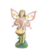 Pink Fairy Garden Decor Solar Statue - $19.24