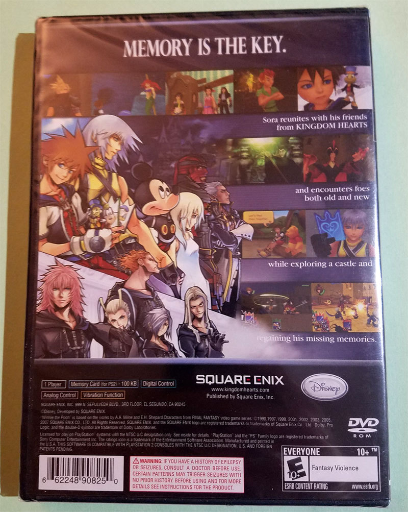 Kingdom Hearts Re: Chain of Memories  New Sealed Black Label Playstation 2 Game