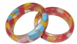 Girl's Multicolored Sponge Acrylic Bangle (Per One) - $1.63