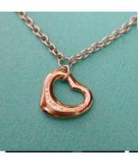 Tiffany & Co Peretti 18K Rose Gold Open Heart Sterling Silver Bracelet Bangle - $339.50