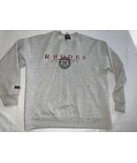Vintage Rhodes College sweatshirt size Large Gray - $31.35