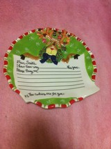 SANTA'S COOKIE PLATE / DISH--JCP HOME--LETTER TO SANTA---FREE SHIP--VGC - $14.63