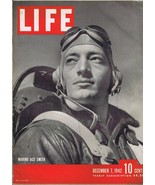 ORIGINAL Vintage Life Magazine December 7 1942 Marine Ace Smith - $27.86
