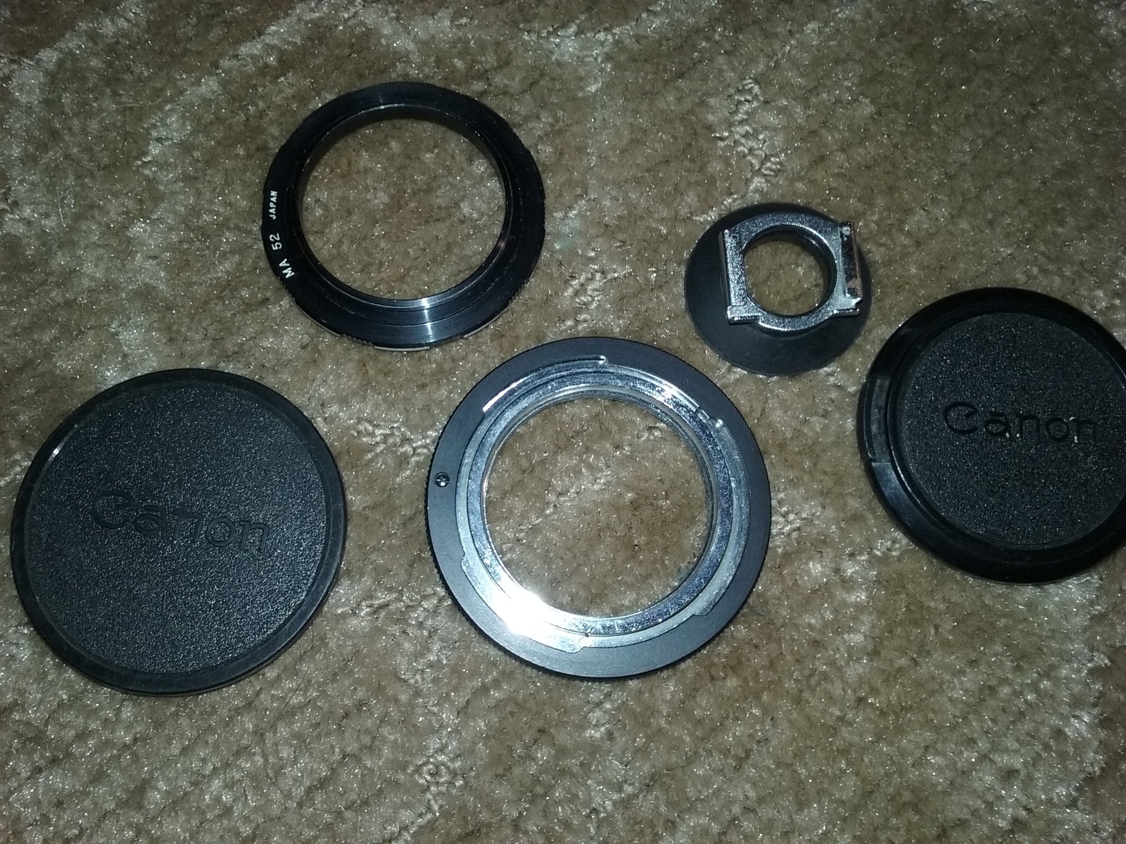 Caonon AE-1 35mm Camera - FD 50mm 1:1.8 Lens - Lens Adapter's and cap's