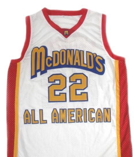 Carmelo anthony  22 mcdonald s all american basketball jersey white 1