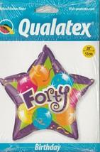 "Qualatex Star ""Forty""  20""  Foil Balloon - $9.73"
