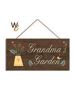 GRANDMA'S GARDEN Sign, Gift For Grandma, 5x10 Wood Sign, Grandparent Gift - $11.39