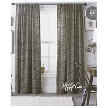 "Threshold One Cotton Panel Window Treatment  Black Diamond Print Curtain 54x84"" - $29.99"