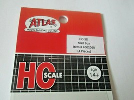 Atlas # 4002060 Mail Box 4 Pieces 3D Printed Accessories HO Scale image 2