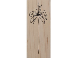 Judith Stylized Flower Wood Mounted Rubber Stamp #F-185