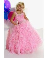 Tiffany Princess Pageant Dress, Pink Ruffles, 8 or 10, 13265 - £153.56 GBP