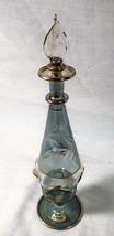 """VINTAGE 9"""" HANDMADE GLASS PERFUME BOTTLE MADE IN EGYPT - $25.73"""