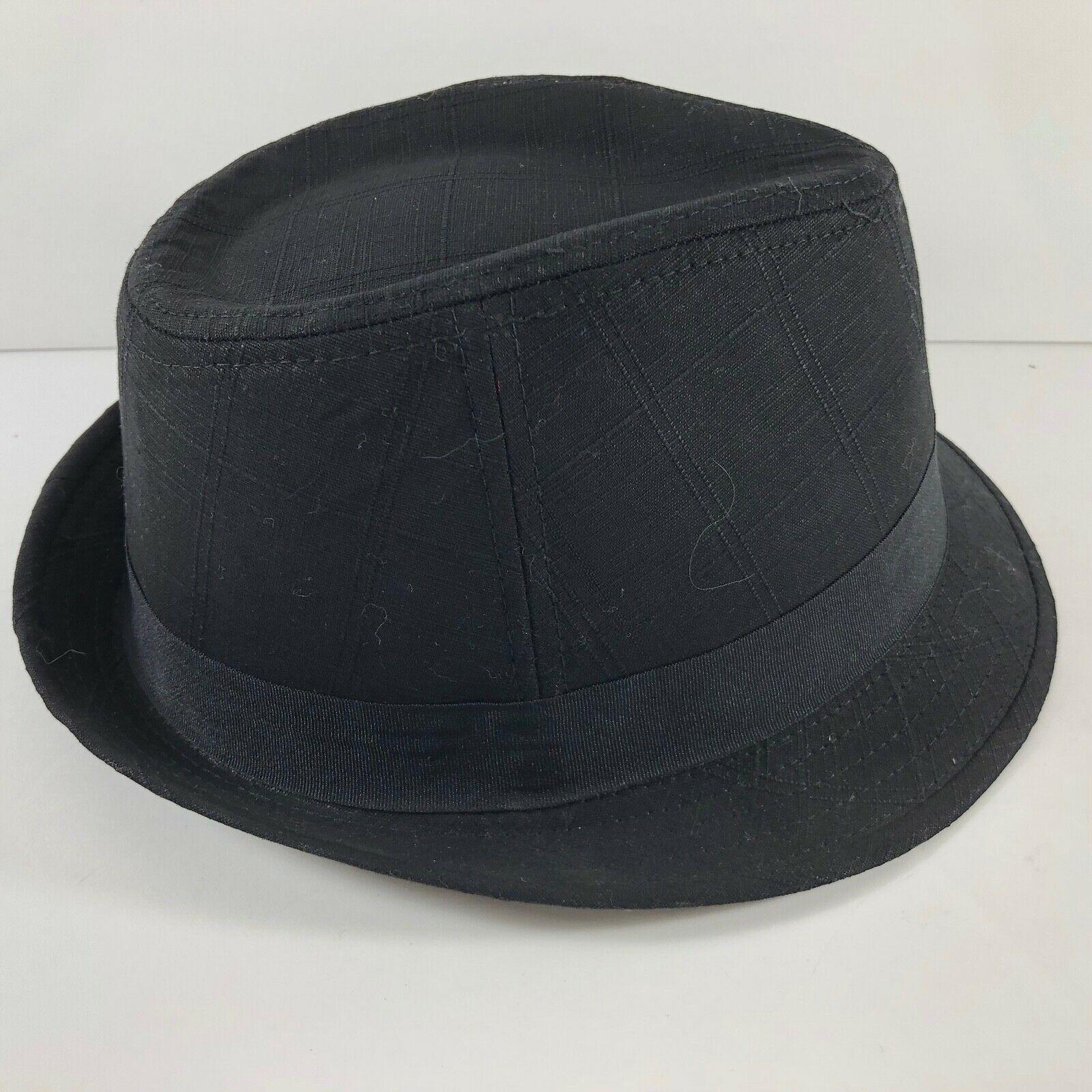 Vintage DPC Authentic cotton linen Black Fedora Hat sz L Handmade Headwear image 3