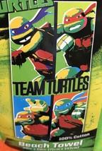 Teenage Mutant Ninja Turtles Team Turtles Beach Towel Mickey Raph Leo Do... - $14.99