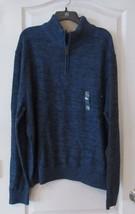 Arrow Classic-Fit Marled 1/4-Zip Sweater DARK DENIM  Men Sz 2XL NWT MSRP$80 - $22.88