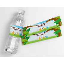 Jungle Zoo Baby Shower Personalized Waterproof Bottle Labels - $21.78
