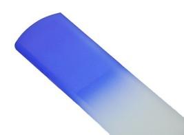 Genuine Czech Cobalt Blue Crystal Glass 6 1/4 inch Spa Bar Slab Foot File - $17.06