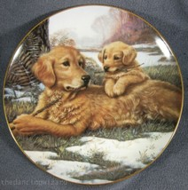 Golden Moments Collector Plate Sporting Generation Jim Lamb Dogs Puppy - $17.95