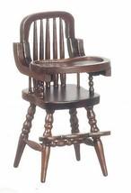 Dollhouse Miniature  - Baby High Chair Walnut - 1:12 scale - $15.99