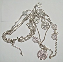 Premier Designs Stunning Multiple Chain Necklace Silvertone - $12.95