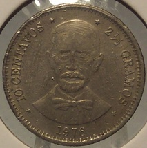 1976 Dominican Republic 10 centavos #0077 - $1.29