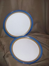 2 Mikasa Craft Stone Blue Hill Salad Dessert Plates J 5001 Japan - $14.84