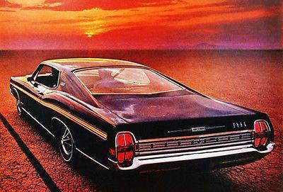 Primary image for 1968 Ford Galaxie 500 XL Fastback - Promotional Advertising Poster