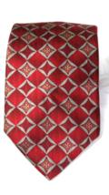 Tom James Innocenti Mens 100% Silk Necktie Geometric Made In The USA  - $10.93