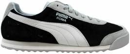 Puma Roma Pigskin Black-Vapor Blue-Vaporous Grey 247460 30 Men's Size 10 - $75.00