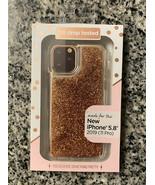 "Fellowes Bronze Liquid Glitter Phone Case for 5.8 "" iPhone 11 Pro Protec... - $13.85"