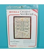 Bucilla Creative Needlecraft Childs Prayer Cross Stitch Sampler Kit 1601... - $39.95