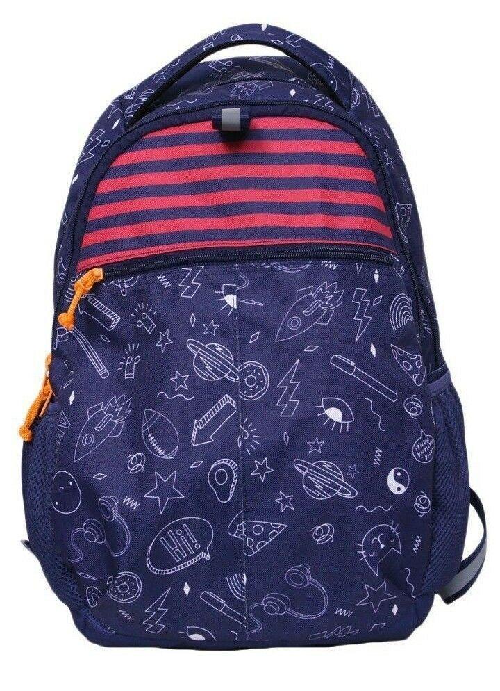 """Brand New Cat & Jack 18"""" Kids' Super Duper Navy Doodle Backpack - 52034708"""