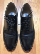 Johnston & Murphy Hand Crafted Black Cap Toe Lace Up Oxford Shoes Size 9.5 D - $33.94