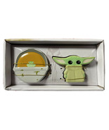 Star Wars Baby Yoda Mandalorian The Child & Carrier Salt & Pepper Shaker... - $19.49
