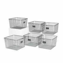 Spectrum Diversified 47976-6 Storage Basket, Medium, Industrial Gray - P... - £58.03 GBP