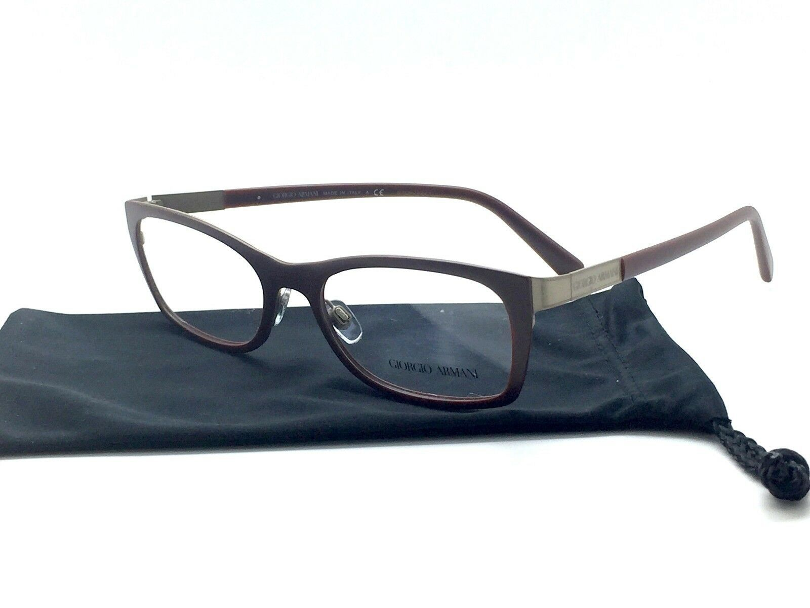 Primary image for Giorgio Armani eyeglass frame AR5013 3034 52-17 135 Brown opaque Authentic