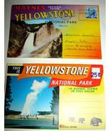 2 1960s Yellowstone Souvenir Postcard Folder Photo Sets - $12.99