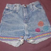 Blue Jeans Denim Suns Shorts Size 2T Girls Sonoma 100% Cotton - $4.75