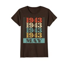 Funny Shirts - Retro Classic Vintage May 1943 75th Birthday Gift 75 yrs old Wowe image 5