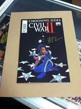 Civil War II: Choosing Sides #2.Cover B. First printing.Signed by Brando... - $6.92