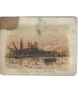 Antique Arthur Wilde Parsons for Raphael Tuck Birthday Card The Tower of... - $101.24