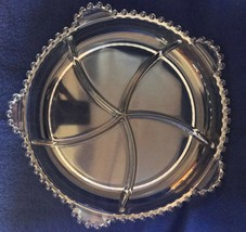 Imperial Glass candlewick round 5 part relish with 5 tab handles excellent - $15.83