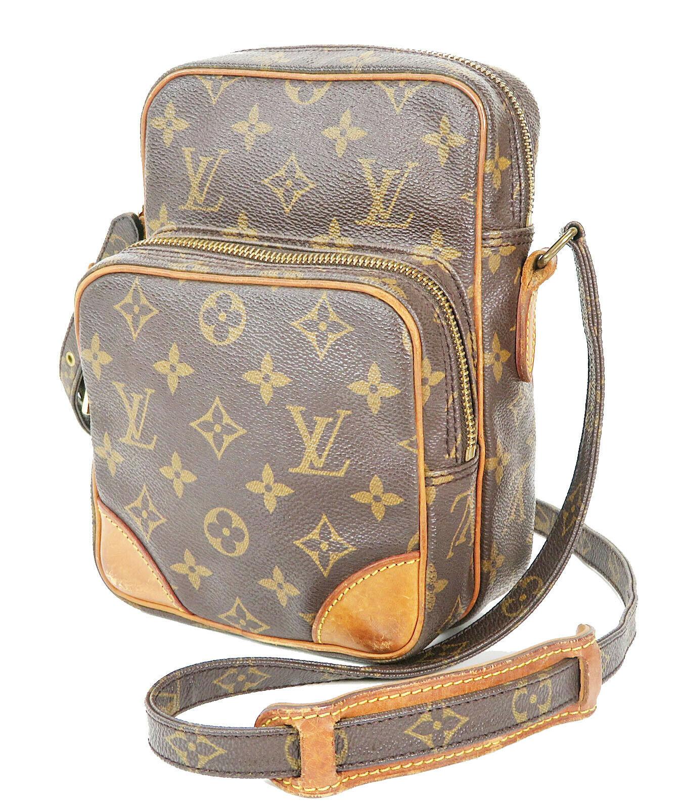 Authentic LOUIS VUITTON Amazone Monogram Cross body Shoulder Bag Purse #34636