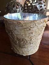 WOOD vase wedding flower pot center piece log home decor personalize BIR... - $8.66