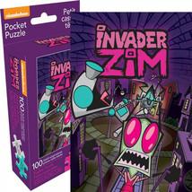 Invader Zim 100 Piece Adult Pocket Puzzle Purple - $14.98