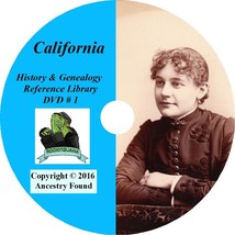 CALIFORNIA - History & Genealogy - 90 Books on DVD - Ancestors, County, ... - $6.76