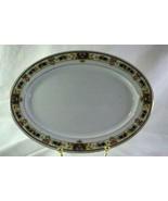 """C Tielsch 1920's German Floral Band #2251 Large Oval Platter 13 1/4"""" - $22.67"""